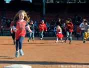-Boston, MA, April 6, 2014- Kids run the bases after a game against the Milwaukee Brewers at Fenway Park on April 6th, 2014 at Fenway Park in Boston, Massachusetts. (Photo by Amanda Sabga/Boston Red Sox)