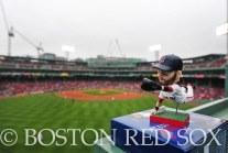 -Boston, MA, May 1, 2014- Dustin Pedroia bobbleheads sprinkled Fenway after a rainout lead to an afternoon game against the Tampa Bay Rays at Fenway Park on May 1st, 2014 at Fenway Park in Boston, Massachusetts. (Photo by Amanda Sabga/Boston Red Sox)