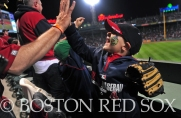 -Boston, MA, May 1, 2014- Fans celebrate during an evening game against the Tampa Bay Rays at Fenway Park on May 1st, 2014 at Fenway Park in Boston, Massachusetts. (Photo by Amanda Sabga/Boston Red Sox)