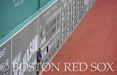-Boston, MA, May 4, 2014- The green monster during a game against the Oakland Athletics at Fenway Park on May 4th, 2014 at Fenway Park in Boston, Massachusetts. (Photo by Amanda Sabga/Boston Red Sox)