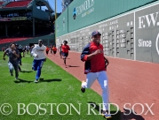 -Boston, MA, May 17, 2014- Jonathan Herrera runs drills with kids as part of a Health and Wellness event hosted by Covidien on May 17th, 2014 at Fenway Park in Boston, Massachusetts. (Photo by Amanda Sabga/Boston Red Sox)