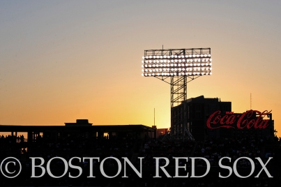 -Boston, MA, May 17, 2014- The sun sets over the Coca-Cola pavilion during game against the Detroit Tigers on May 17th, 2014 at Fenway Park in Boston, Massachusetts. (Photo by Amanda Sabga/Boston Red Sox)