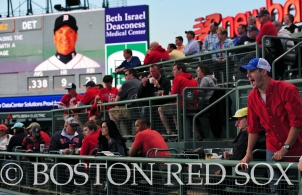 -Boston, MA, May 17, 2014- A fan yells to the players during a game against the Detroit Tigers on May 17th, 2014 at Fenway Park in Boston, Massachusetts. (Photo by Amanda Sabga/Boston Red Sox)
