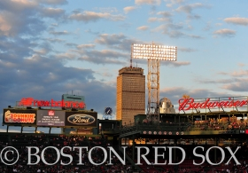 -Boston, MA, May 18, 2014- The Boston skyline during a game against the Detroit Tigers on May 18th, 2014 at Fenway Park in Boston, Massachusetts. (Photo by Amanda Sabga/Boston Red Sox)
