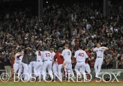 -Boston, MA, May 29, 2014- Red Sox players celebrate a win against the Atlanta Braves on May 29th, 2014 at Fenway Park in Boston, Massachusetts. (Photo by Amanda Sabga/Boston Red Sox)
