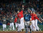 -Boston, MA, May 29, 2014- Red Sox players celebrate after a walk-off win against the Tampa Bay Rays on May 30th, 2014 at Fenway Park in Boston, Massachusetts. (Photo by Amanda Sabga/Boston Red Sox)