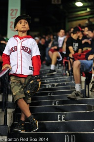 -Boston, MA, June 12 2014- A young fan during a game against the Cleveland Indians on June 12th, 2014 at Fenway Park in Boston, Massachusetts. (Photo by Amanda Sabga/Boston Red Sox)