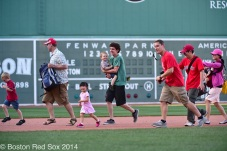 "-Boston, MA, June 15 2014- Kids and their father's ""run the bases"" after a game against the Cleveland Indians on June 15Th, 2014 at Fenway Park in Boston, Massachusetts. (Photo by Amanda Sabga/Boston Red Sox)"
