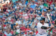 -Boston, MA, July 6 2014- Jackie Bradley Jr. prepares to hit during a game against the Baltimore Orioles on July 6th, 2014 at Fenway Park in Boston, Massachusetts. (Photo by Amanda Sabga/Boston Red Sox)