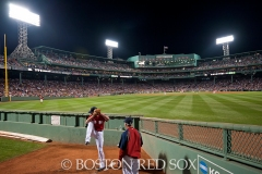 -Boston, MA, August 1, 2014- Players warm up in the bullpen during game against the New York Yankees at Fenway Park on August 1st, 2014 (Photo by Amanda Sabga/Boston Red Sox)