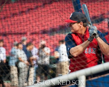 -Boston, MA, August 1, 2014- Allen Craig takes batting practice before a game against the New York Yankees at Fenway Park on August 1st, 2014 (Photo by Amanda Sabga/Boston Red Sox)