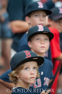 -Boston, MA, August 1, 2014- Young fans watch batting practice before a game against the New York Yankees at Fenway Park on August 1st, 2014 (Photo by Amanda Sabga/Boston Red Sox)