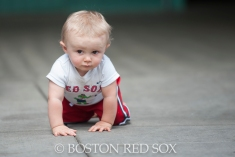 -Boston, MA, August 17, 2014- A young fan crawls through the big concourse during a game against the Houston Astros at Fenway Park on August 17th, 2014 (Photo by Amanda Sabga/Boston Red Sox)