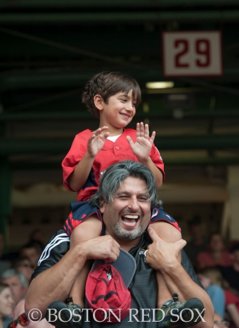 -Boston, MA, August 17, 2014- Fans during a game against the Houston Astros at Fenway Park on August 17th, 2014 (Photo by Amanda Sabga/Boston Red Sox)