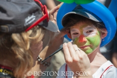 -Boston, MA, August 17, 2014- Young fans get their face ready before a game against the Houston Astros at Fenway Park on August 17th, 2014 (Photo by Amanda Sabga/Boston Red Sox)