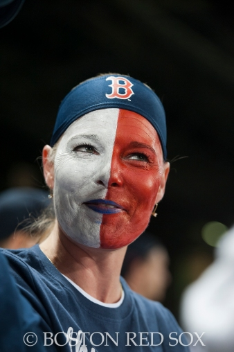 -Boston, MA, August 19, 2014- A dedicated fan during a game against the Los Angeles Angels at Fenway Park on August 19th, 2014 (Photo by Amanda Sabga/Boston Red Sox)