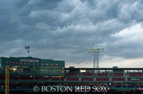 -Boston, MA, September 6, 2014- A storm brews as a rain delay is called before a game against the Toronto Blue Jays at Fenway Park on September 6th, 2014 (Photo by Amanda Sabga/Boston Red Sox)