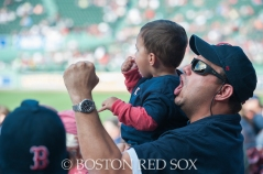-Boston, MA, September 10, 2014- Fans cheer as the Red Sox score in the bottom of the 9th during a game against the Baltimore Orioles at Fenway Park on September 10th, 2014 (Photo by Amanda Sabga/Boston Red Sox)
