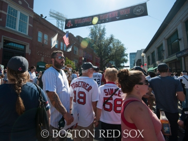-Boston, MA, September 28, 2014- Fans on Yawkey Way before the season closing game against the New York Yankees at Fenway Park on September 28th, 2014 (Photo by Amanda Sabga/Boston Red Sox)