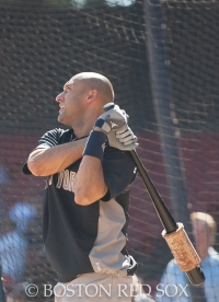 -Boston, MA, September 28, 2014- Derek Jeter takes batting practice before his final game and the season closing game against the New York Yankees at Fenway Park on September 28th, 2014 (Photo by Amanda Sabga/Boston Red Sox)